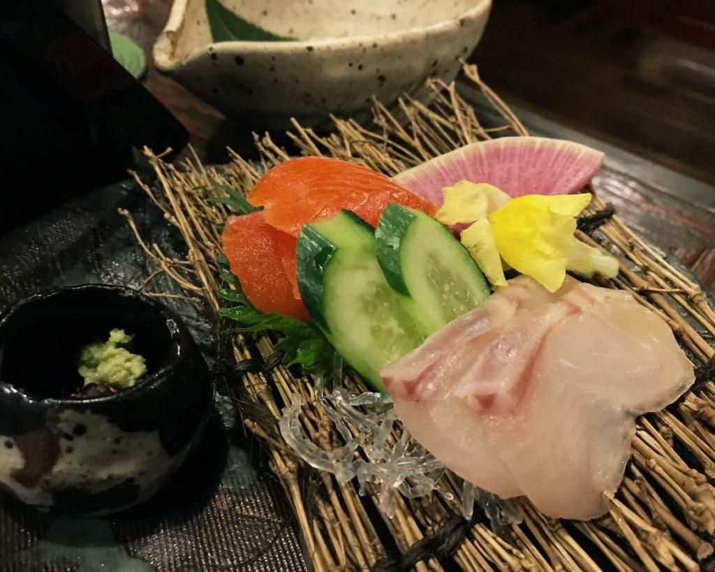 kaiseki at Kakurean Hidaji ryokan in takayama japan