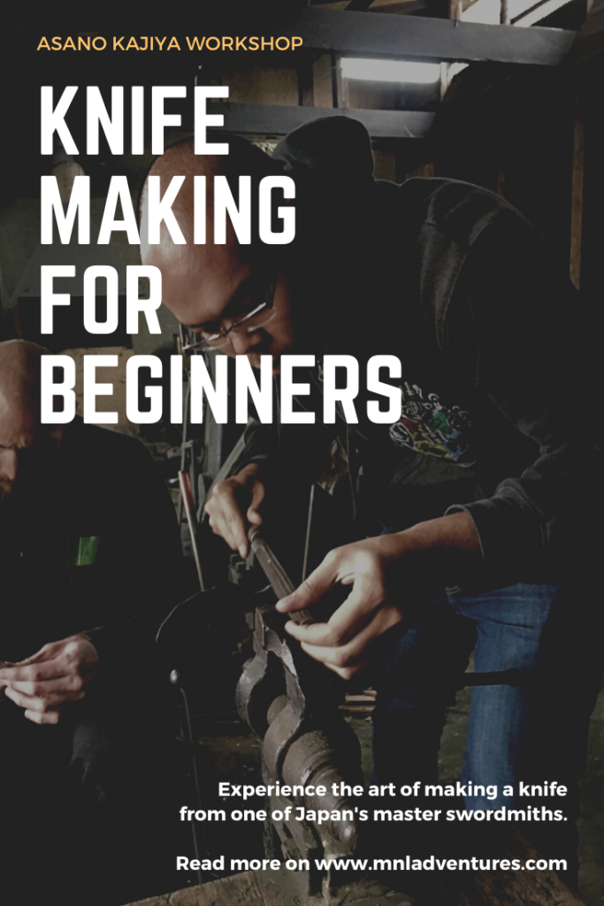 diy knifemaking for beginners near kyoto japan