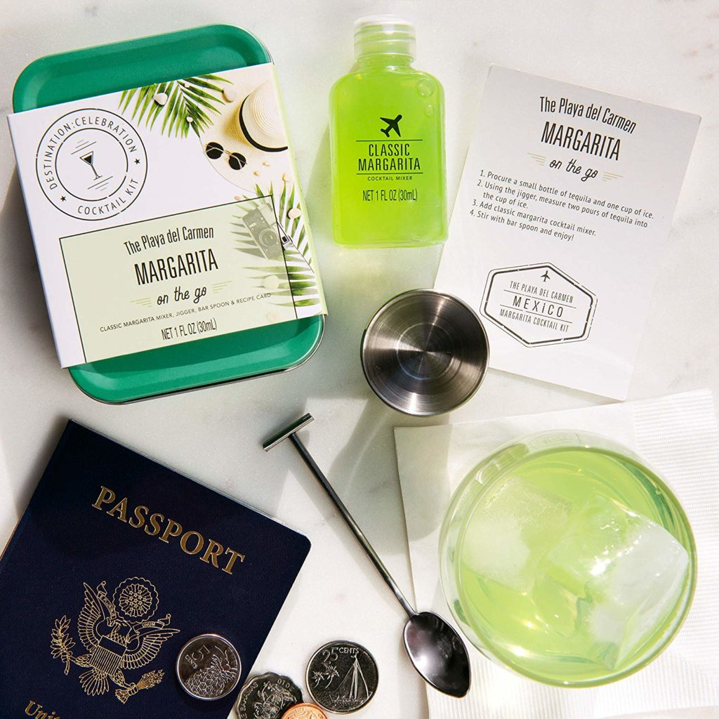 TSA approved margarita cocktail kit for that long flight.