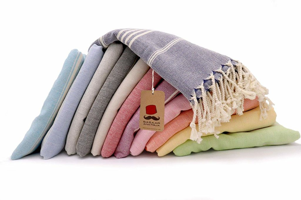 Soft and colorful turkish towels is a great gift idea for someone who likes to travel in 2019.