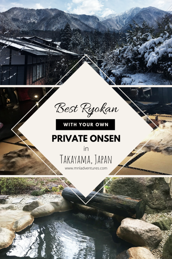 Best ryokan with private onsen in Takayama Japan by www.mnladventures.com